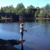 Erica på fiske  tur